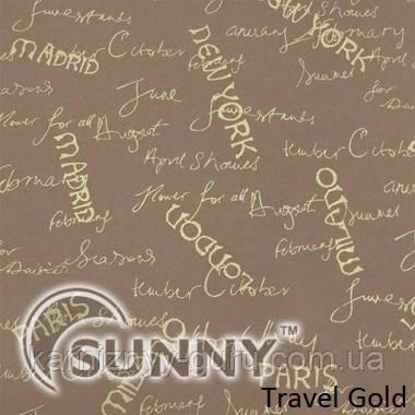 Рулонные шторы для окон в открытой системе Sunny, ткань Travel
