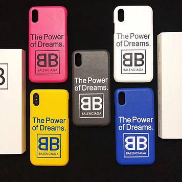 """Iphone 6 / 6s / 6plus оригинальный кожаный чехол панель бампер накладка  НАТУРАЛЬНАЯ КОЖА """" Balenciaga """""""
