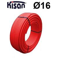 KISAN 21716 Труба  16х2.0  червона для тепл. полу (ПОЛЬЩА)