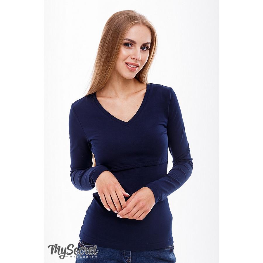 Топ для кормящих Adrianna ЮЛА МАМА (тёмно-синий, размер S)