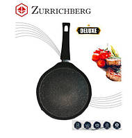 Мраморная блинница сковорода для пиццы блинов Zurrichberg ZBP-2014 антипригарная 28 см круглая для дома