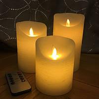 Электронные свечи D8H15 с имитацией пламени и пультом управления набор, фото 1