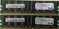 Оперативная память 2Gb DDR1 Samsung PC 3200 400MHz Kit (2x1Gb) ПК бу