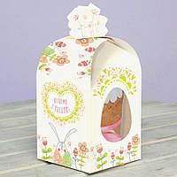 Коробка для  пасхального кулича 11х11х14 см. (Пасхальный кролик)