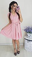 Замечательное летнее платье в горошек