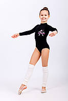Купальник для хореографии и танцев для девочки с длинным рукавом