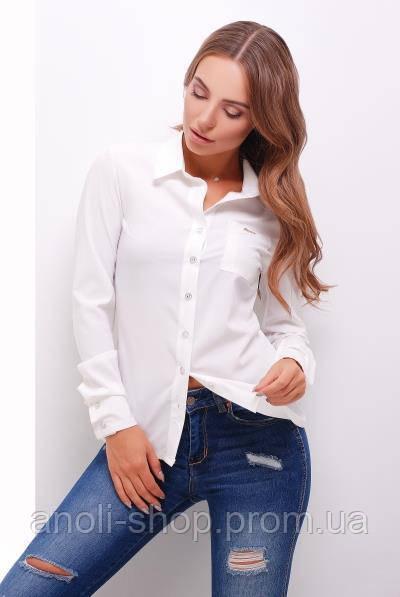 45da74436ea Женская рубашка белая классика