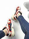 Женские кроссовки Adidas Young красно-белые , фото 4