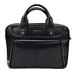 Мужская кожаная сумка Karya 0655-45 черный