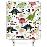 Штора для ванной Динозавры 180 х 180 см Berni