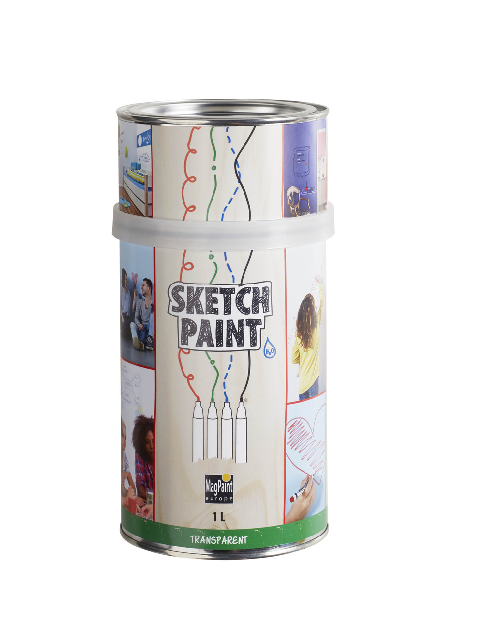 Маркерная краска SketchPaint 1 л.прозрачная