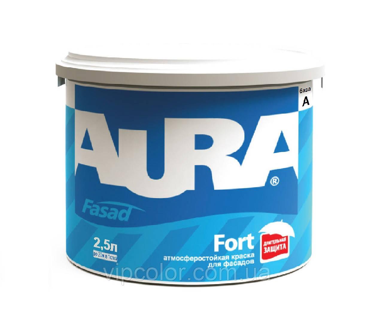 Aura Fasad Fort Белая 5 л фасадная краска матовая арт.4820166521333