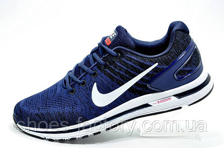 Мужские кроссовки в стиле Nike Air Zoom Focus, Dark blue\White, фото 2