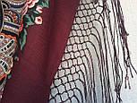 Любовь земная 1760-6, павлопосадский платок (шаль) из уплотненной шерсти с шелковой вязанной бахромой, фото 8