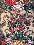 Любовь земная 1760-6, павлопосадский платок (шаль) из уплотненной шерсти с шелковой вязанной бахромой, фото 10