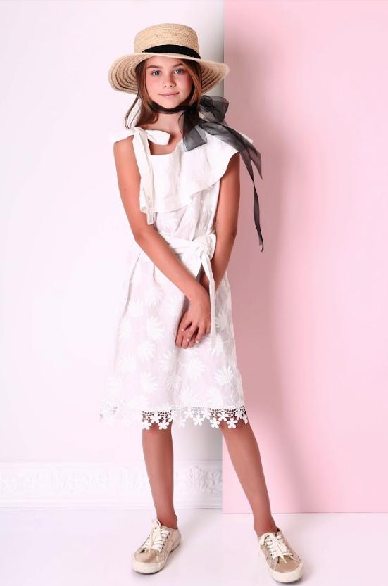 Батистовое  детское платье  р-ры 164