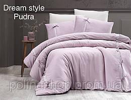 "Комплект постельного белья First Choice Сатин Deluxe ""Dream style"" pudra Евро"