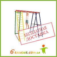 Детская площадка металлический комплекс уличный Sport Baby с тумбой 145/127/130