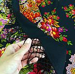 Галина 258-18, павлопосадский платок (шаль) из уплотненной шерсти с шелковой вязанной бахромой, фото 8