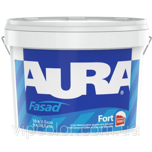Aura Fasad Fort Белая 10 л матовая эластичная краска универсальная арт.4820166521340