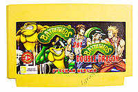 Картридж денди 2 в 1 Battletoads 1+2 Double Dragon