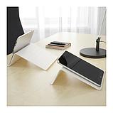 IKEA ИСБЕРГЕТ Подставка для планшета, белый, 25x25 см, фото 2