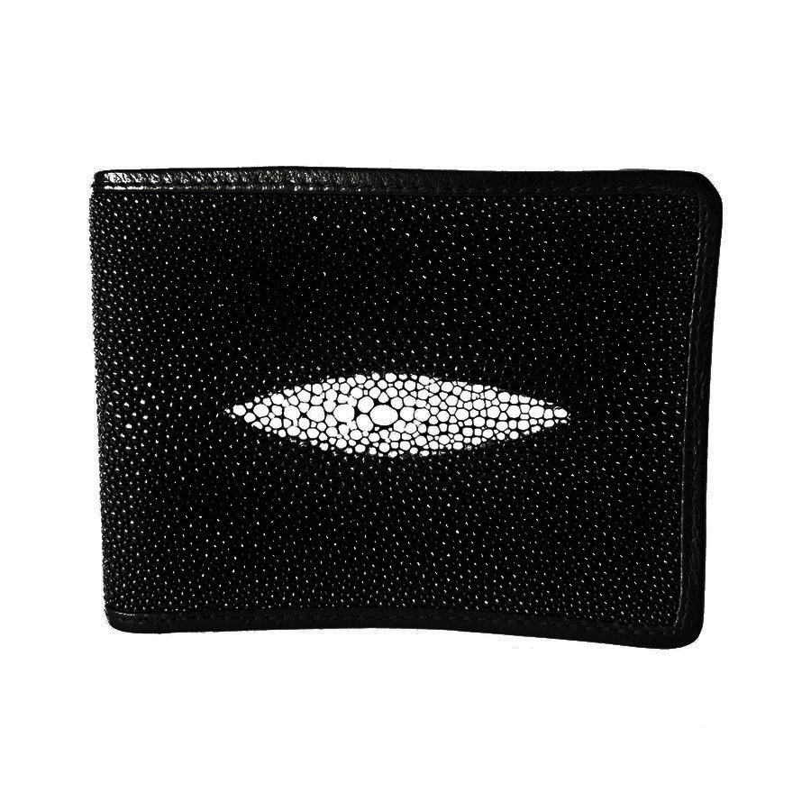 Мужское портмоне из кожи ската Mosart Stingray 2807 черный