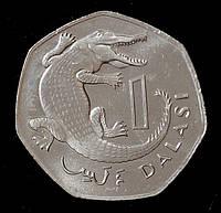 Монета Гамбии 1 даласи 2016 г.