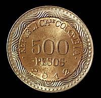Монета Колумбии 500 песо 2012 г. Лягушка