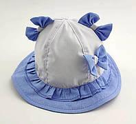 Оптом панамки детские 46 48 и 50 размер детская панамка головные уборы для девочек с ушками опт, фото 1