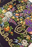 Циганка Аза 362-15, павлопосадский хустку (шаль) з ущільненої вовни з шовковою бахромою в'язаної, фото 7