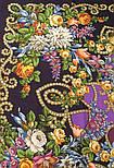Цыганка Аза 362-15, павлопосадский платок (шаль) из уплотненной шерсти с шелковой вязанной бахромой, фото 5