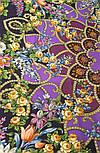 Циганка Аза 362-15, павлопосадский хустку (шаль) з ущільненої вовни з шовковою бахромою в'язаної, фото 9