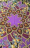 Цыганка Аза 362-15, павлопосадский платок (шаль) из уплотненной шерсти с шелковой вязанной бахромой, фото 10