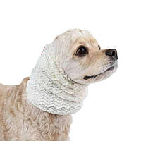 "Снуд для собак Pinkaholic ""Зигзаг"" белый"