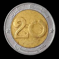 Монета Алжира 20 динар 1993 г.