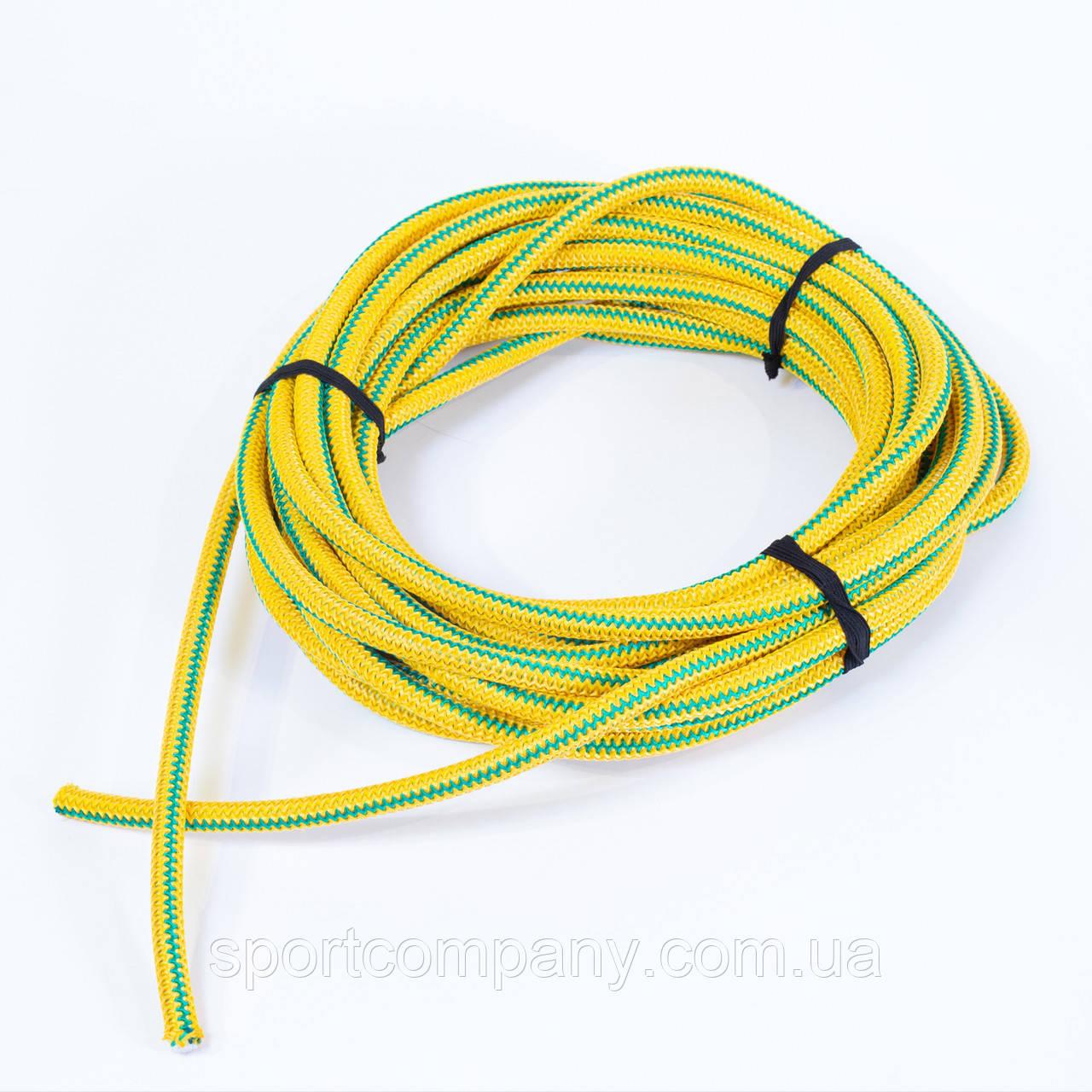Жгут спортивный резиновый в тканевой оплетке ( резина, d-12 мм, I-300 см, желтый ) rez.yelow12