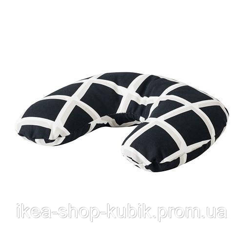 IKEA VITAXFLY Подушка-підголівник, чорний, білий
