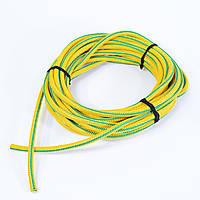 Жгут спортивный резиновый в тканевой оплетке ( резина, d-12 мм, I-700 см, желтый ) rez.yelow12