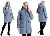 Осенняя-весенняя, демисезонная женская куртка , большого размера, на поясе кулиска,  р-р с 44 по 60 мята (5)