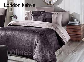 "Комплект постельного белья First Choice Vip Сатин  ""London"" kahve Евро"