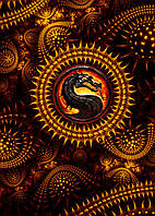 Картина GeekLand Mortal Kombat Мортал Комбат логотип 40х60см MK.09.001