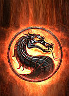 Картина GeekLand Mortal Kombat Мортал Комбат логотип 40х60см MK.09.002