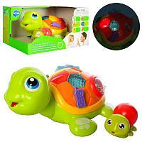 Интерактивная развивающая игрушка «Черепаха с малышом» 868Huile Toys