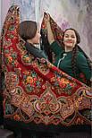 Майя 372-28, павлопосадский платок (шаль) из уплотненной шерсти с шелковой вязанной бахромой, фото 5