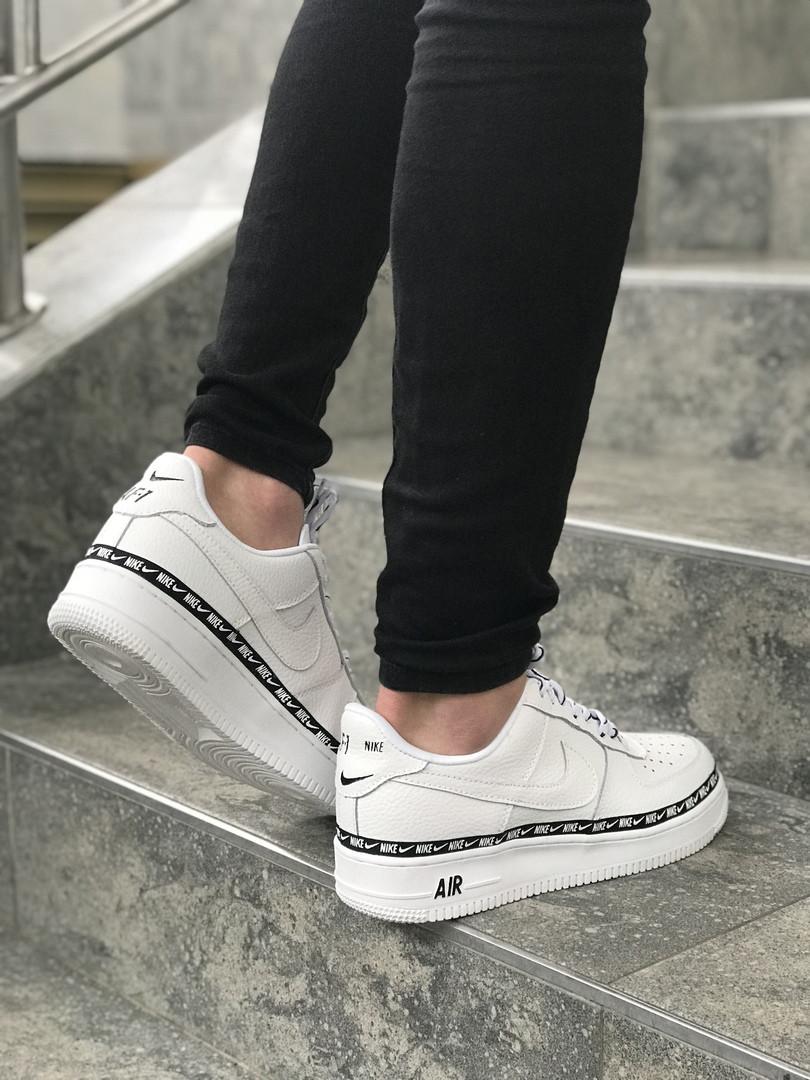 bc76fb69 Женские кроссовки в стиле Nike Air Force 1 low (Full White), найк ...