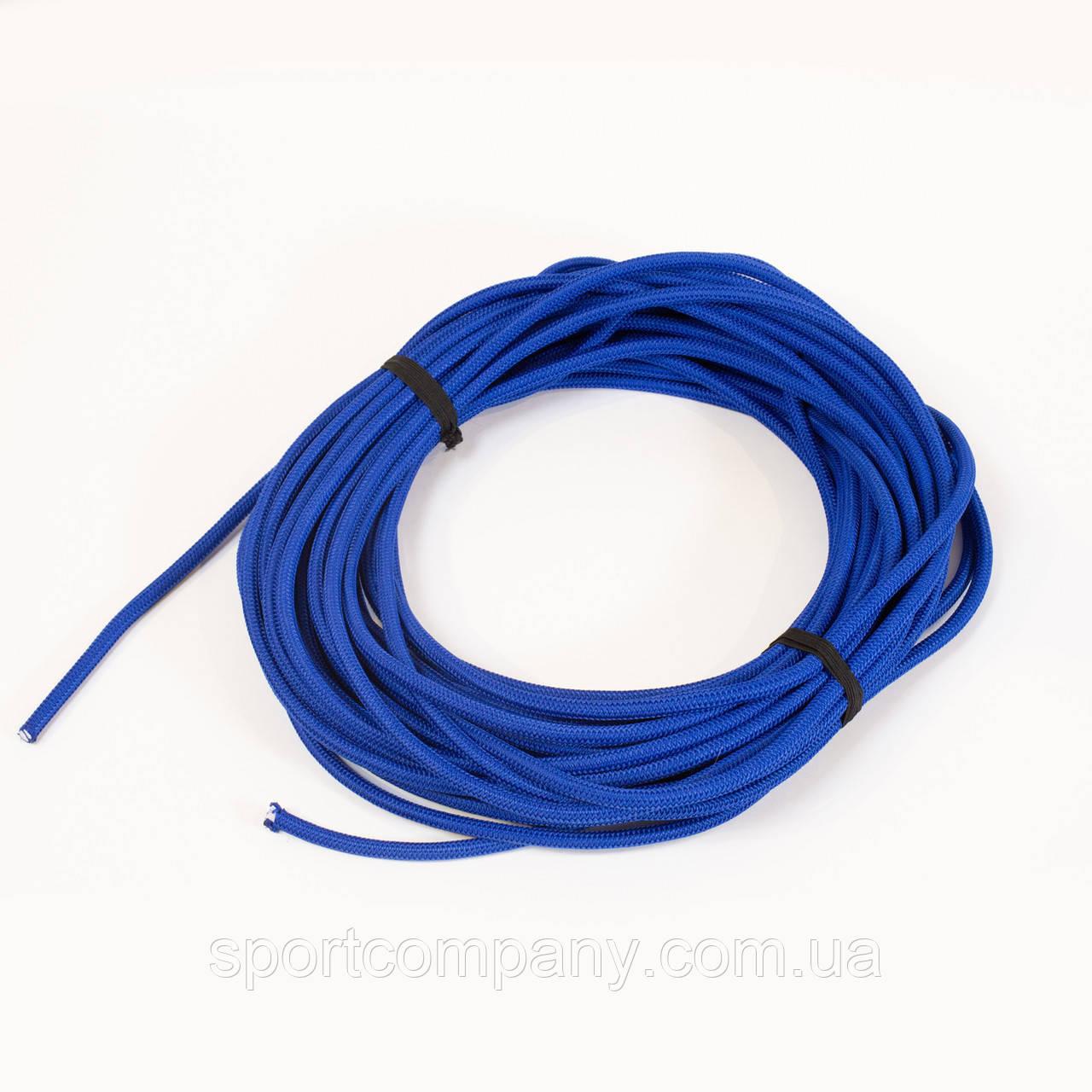 Жгут спортивный резиновый в тканевой оплетке ( резина, d-8 мм, I-400 см, синий ) rez.blu8
