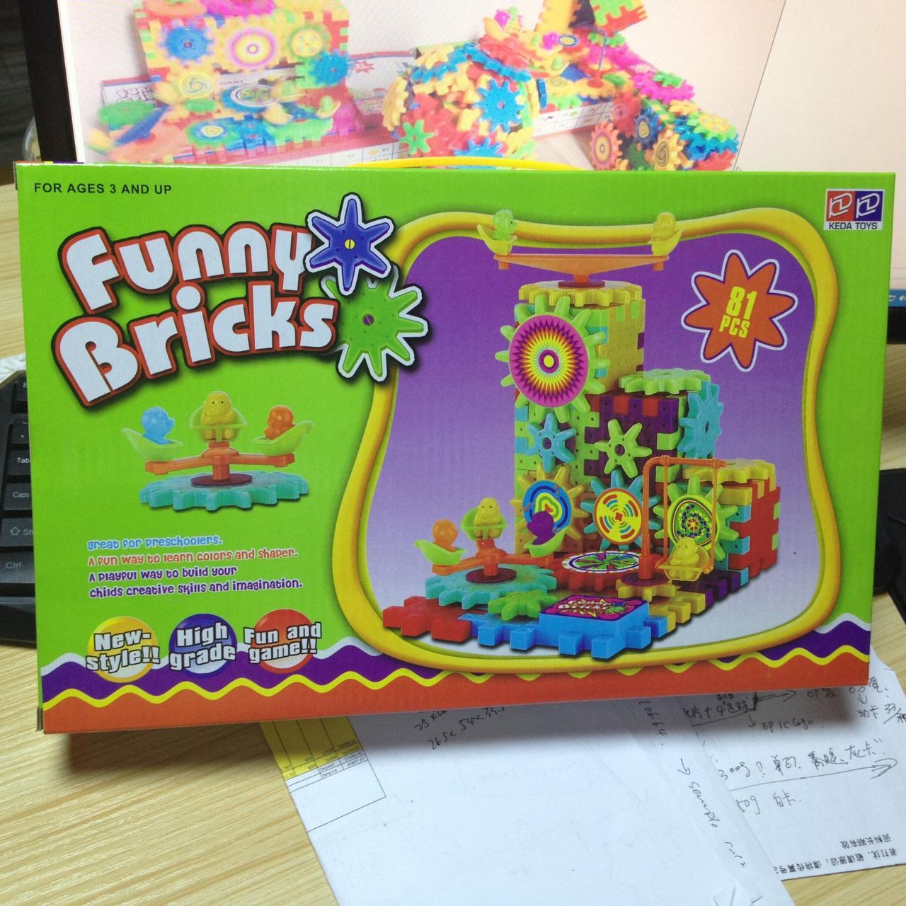 Детский конструктор Веселые шестерни Funny Bricks от 3 лет