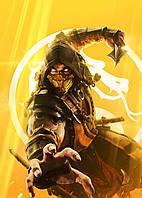 Картина GeekLand Mortal Kombat Мортал Комбат Скорпион 40х60см MK.09.012