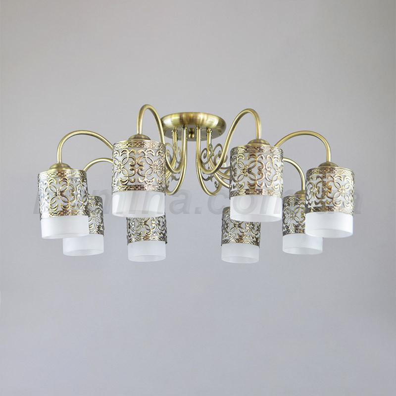 Люстра потолочная на восемь ламп 29-Y001/8AB+WT